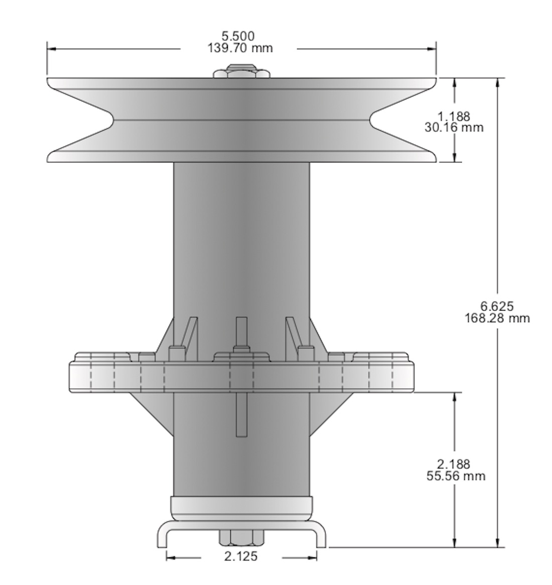 """Oregon 82-493 Spindle Assembly for AMF Dynamark Lawn Chief Norma 1239 36/"""" 38/"""""""