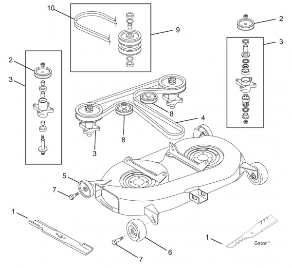 30 Cub Cadet Ltx 1045 Drive Belt Diagram