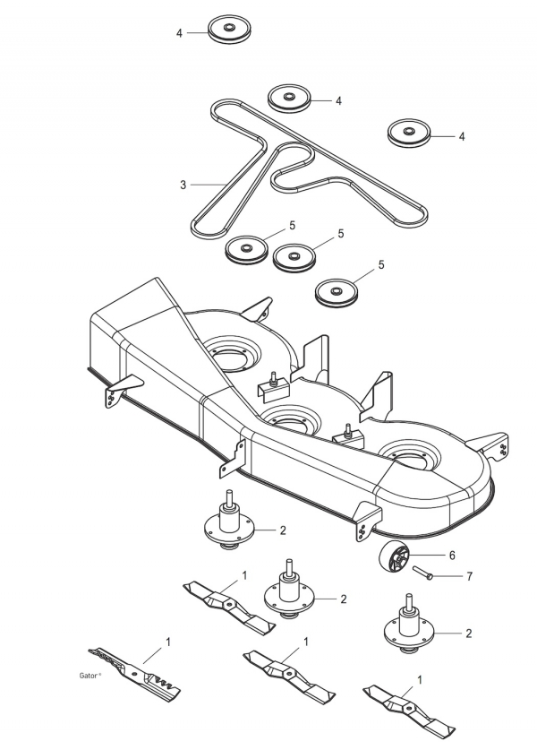 john deere 54 deck 100 series small engine equipment parts John Deere 42 Mower Deck Parts Diagram john deere 54 deck 100 series