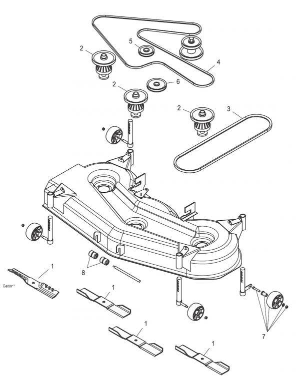 32 John Deere Gt235 Drive Belt Diagram