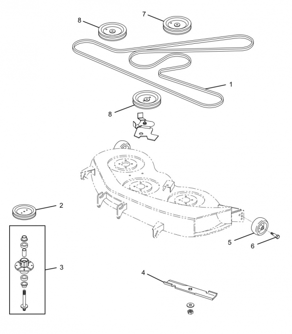 S 254 John Deere 997 Parts additionally T25097473 Get drive belt routing diagram john besides John Deere 54 Deck Belt together with Hydrostatic Transmission Tuff Torq 918 07009 likewise S 63 John Deere D130 Parts. on john deere d105 belt diagram