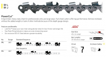 ".404"" Pitch, .063"" Gauge, 59L Standard Sequence, PowerCut™ Chisel Chain"