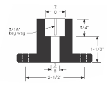 Oregon® 65-222 Blade Adapter drawing