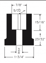 Oregon® 65-229 drawing blade adapter replaces Snapper