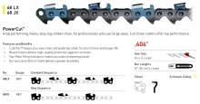 ".404"" Pitch - 68 LX Standard Sequence PowerCut™ chain"