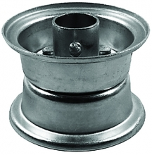 "Oregon® 72-804 Wheel and Hub 410/350-6 size, 3-1/4"" rim width, 3-3/4"" centered cut length"