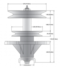 Oregon® 82-675 spindle assembly drawing