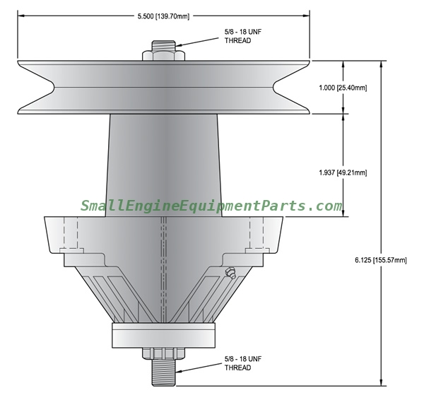 Small Engine Equipment Parts: MTD Parts - Spindle Assemblies